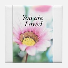 You Are Loved Tile Coaster