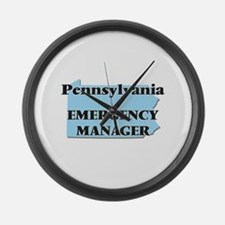 Pennsylvania Emergency Manager Large Wall Clock