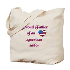 Proud Father/American Sailor Tote Bag