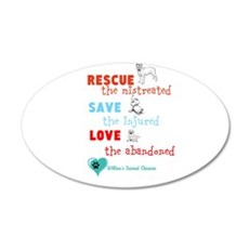 rescue save love Wall Decal