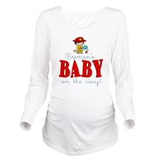 Unique Fireman Long Sleeve Maternity T-Shirt