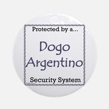 Dogo Security Ornament (Round)