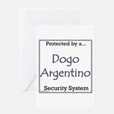 Dogo Security Greeting Card