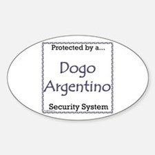 Dogo Security Oval Decal