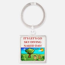 sky diving Keychains