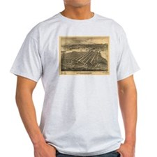 San Diego Old Map T-Shirt