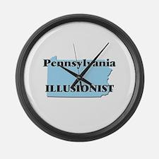 Pennsylvania Illusionist Large Wall Clock