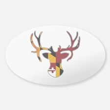 Maryland Flag Deer Decal