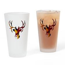 Maryland Flag Deer Drinking Glass