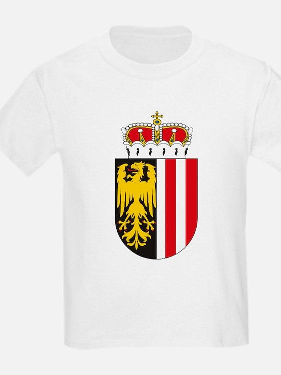 Upper Austria Coat of Arms Kids T-Shirt