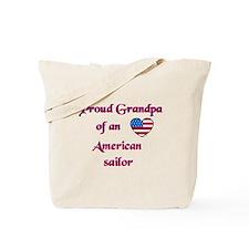 Proud Grandpa/American Sailor Tote Bag