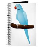 Blue indian ringneck Journals & Spiral Notebooks