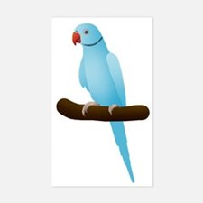 Blue Indian Ringneck Parrot Decal