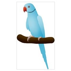 Blue Indian Ringneck Parrot Poster