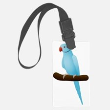 Blue Indian Ringneck Parrot Luggage Tag
