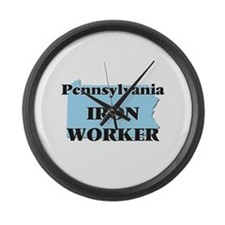 Pennsylvania Iron Worker Large Wall Clock