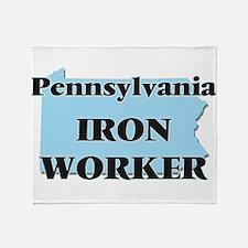 Pennsylvania Iron Worker Throw Blanket