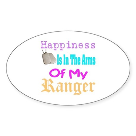 happiness is in the army of m Oval Sticker