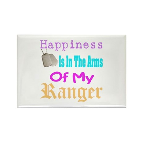 happiness is in the army of m Rectangle Magnet