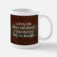 God is our Refuge Bible Scripture Christian Mugs