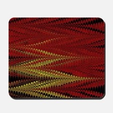 Red and Gold ZigZag Mousepad