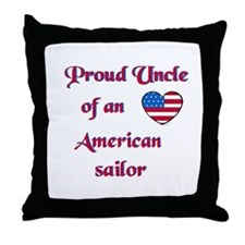 Proud Uncle/American Sailor Throw Pillow