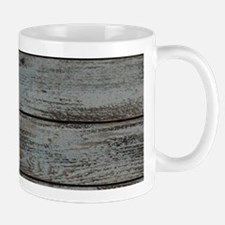black white barn wood Mugs