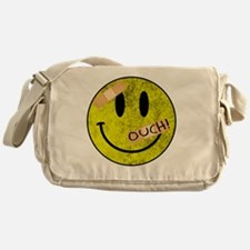 OUCH ADHESIVE TAPES SMILEY FACE Messenger Bag