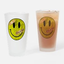 OUCH ADHESIVE TAPES SMILEY FACE Drinking Glass