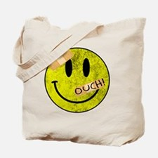 OUCH ADHESIVE TAPES SMILEY FACE Tote Bag