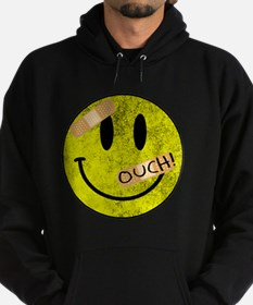 OUCH ADHESIVE TAPES SMILEY FACE Hoodie (dark)