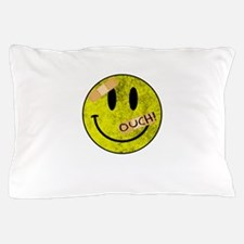 OUCH ADHESIVE TAPES SMILEY FACE Pillow Case