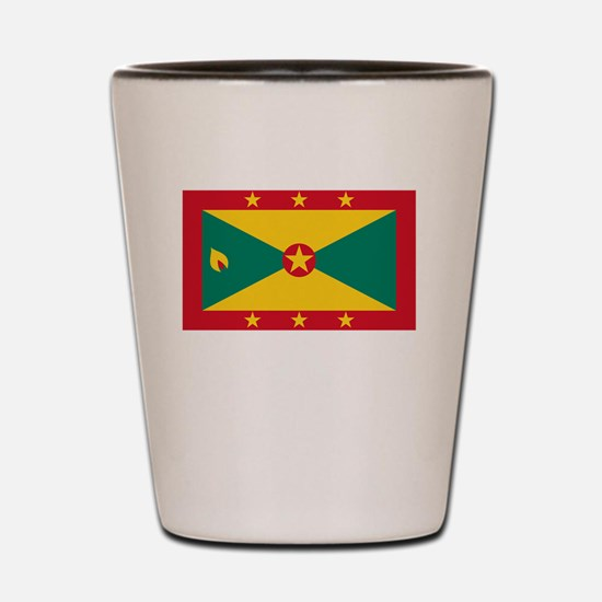 Flag And Name Shot Glass