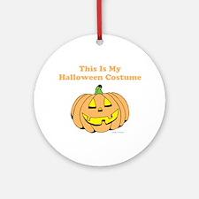 Halloween Costume Round Ornament