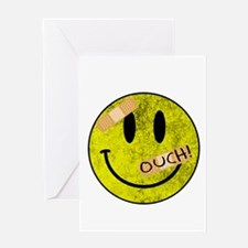 OUCH ADHESIVE TAPES SMILEY FACE Greeting Cards