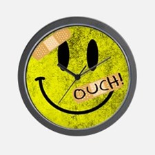 OUCH ADHESIVE TAPES SMILEY FACE Wall Clock