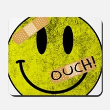 OUCH ADHESIVE TAPES SMILEY FACE Mousepad