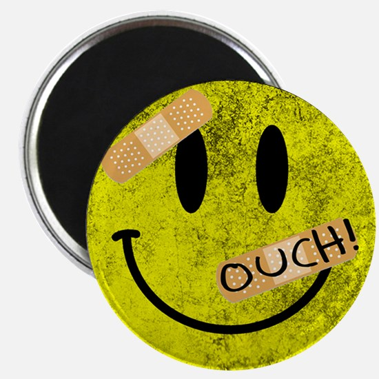 OUCH ADHESIVE TAPES SMILEY FACE Magnets