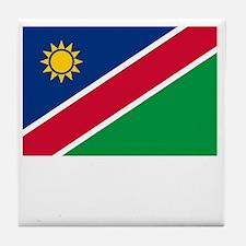Flag And Name Tile Coaster