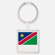 Flag And Name Square Keychain