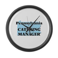 Pennsylvania Catering Manager Large Wall Clock