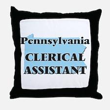 Pennsylvania Clerical Assistant Throw Pillow