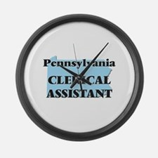Pennsylvania Clerical Assistant Large Wall Clock