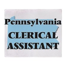 Pennsylvania Clerical Assistant Throw Blanket