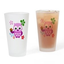 Cute Owls Drinking Glass