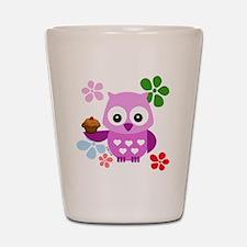 Cute Owls Shot Glass