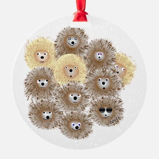 Hedgehog Party Ornament