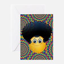 afro emojis Greeting Cards