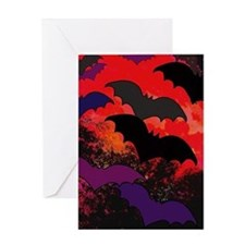 Bats In Flight Greeting Cards