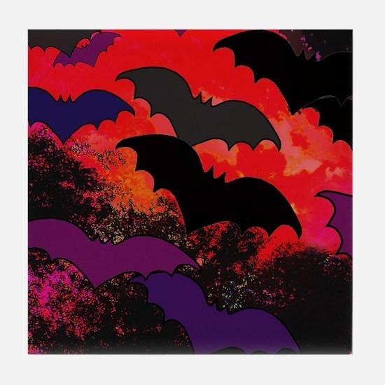 Bats In Flight Tile Coaster